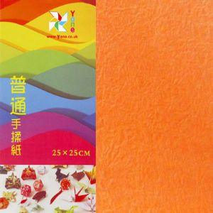 Shoyu matt Orange Red, 10 inch (25 cm) square, 10 sheets, (KYZ059)